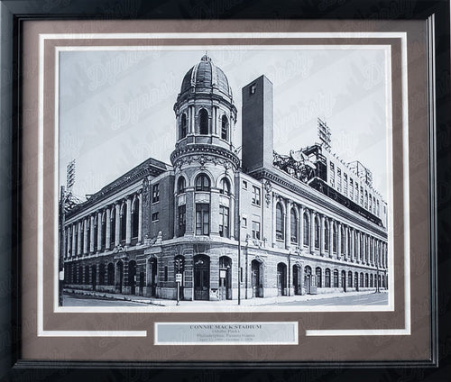 Philadelphia Connie Mack Stadium/Shibe Park Framed & Matted Photo - Dynasty Sports & Framing