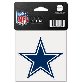 "Dallas Cowboys NFL Football 4"" x 4"" Decal - Dynasty Sports & Framing"