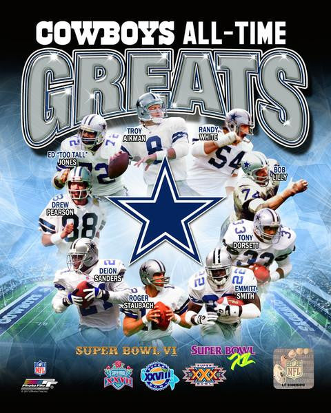 "Dallas Cowboys All-Time Greats NFL Football 8"" x 10"" Photo - Dynasty Sports & Framing"