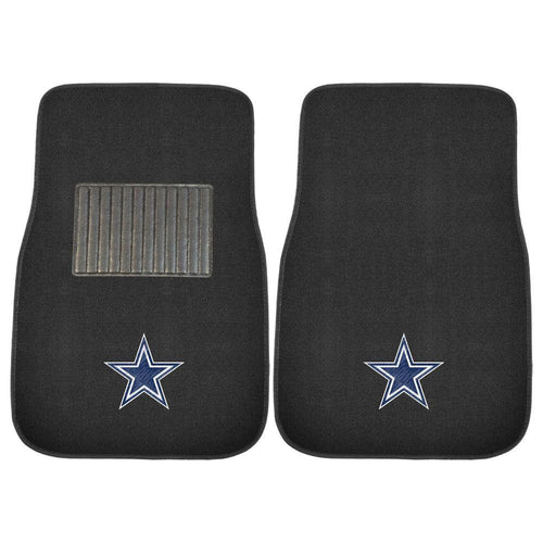Dallas Cowboys NFL Football 2 Piece Embroidered Car Mat Set - Dynasty Sports & Framing