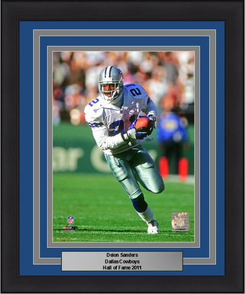 "Dallas Cowboys Deion Sanders NFL Football 8"" x 10"" Framed and Matted Photo - Dynasty Sports & Framing"