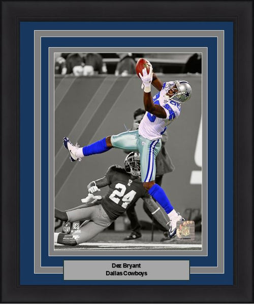 "Dallas Cowboys Dez Bryant NFL Football 8"" x 10"" Framed and Matted Photo - Dynasty Sports & Framing"