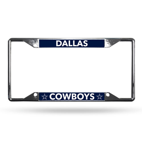 Dallas Cowboys NFL Football EZ-View Chrome License Plate Frame
