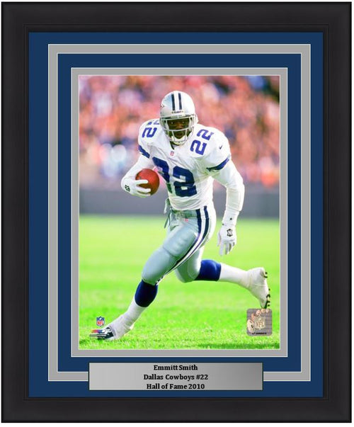 "Dallas Cowboys Emmitt Smith NFL Football 8"" x 10"" Framed and Matted Photo"