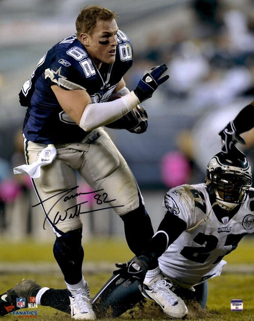 Jason Witten No-Helmet Run v. Eagles Dallas Cowboys Autographed NFL Football Photo - Dynasty Sports & Framing