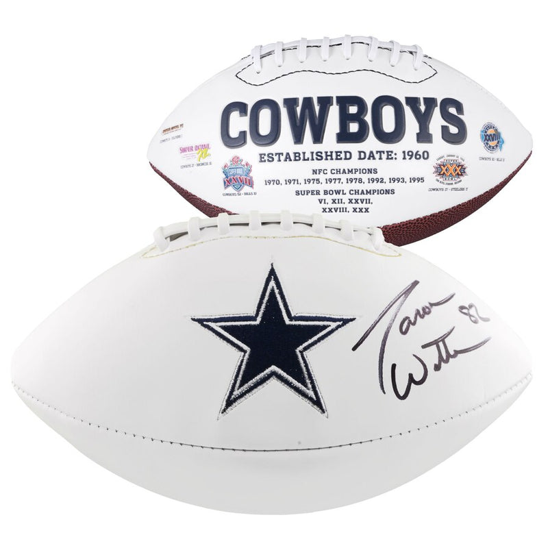 Jason Witten Dallas Cowboys Autographed NFL White Panel Football