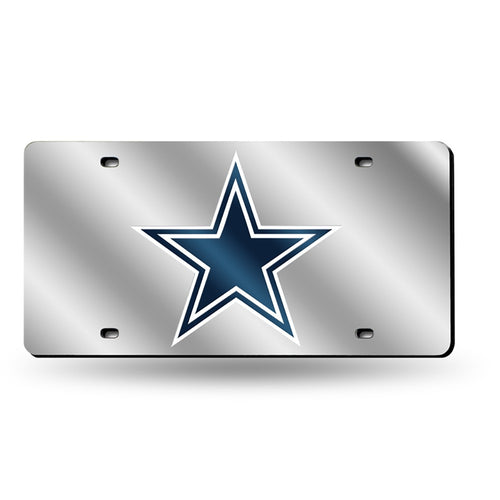 Dallas Cowboys NFL Laser Cut License Plate (Silver) - Dynasty Sports & Framing