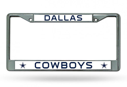 Dallas Cowboys Chrome License Plate Frame - Dynasty Sports & Framing