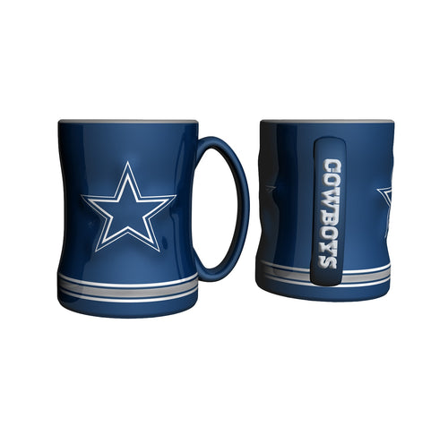 Dallas Cowboys NFL Football Logo Relief 14 oz. Mug