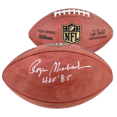 Roger Staubach Dallas Cowboys Autographed NFL Official Duke Football with Hall of Fame Inscription