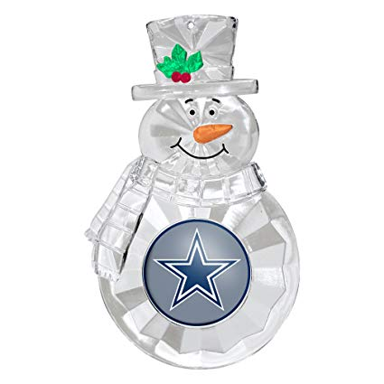 Dallas Cowboys Snowman Holiday Ornament