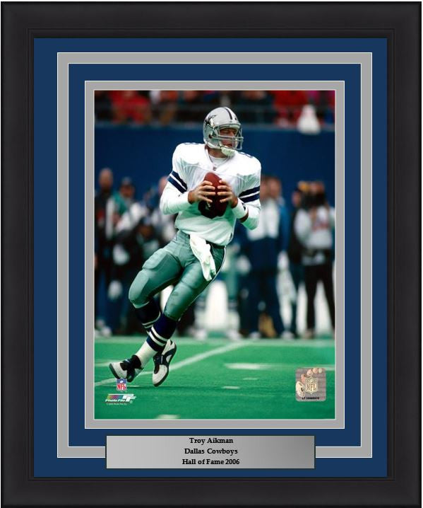 "Troy Aikman in Action Dallas Cowboys 8"" x 10"" Framed Football Photo - Dynasty Sports & Framing"