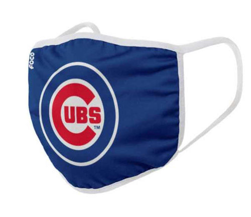 Chicago Cubs Solid Big Logo Face Cover Mask - Dynasty Sports & Framing