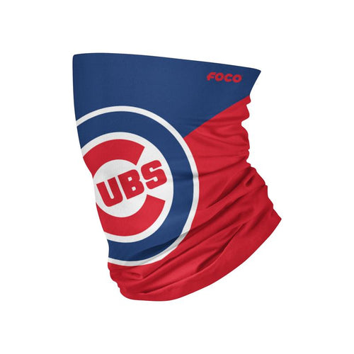 Chicago Cubs Colorblock Big Logo Gaiter Scarf - Dynasty Sports & Framing