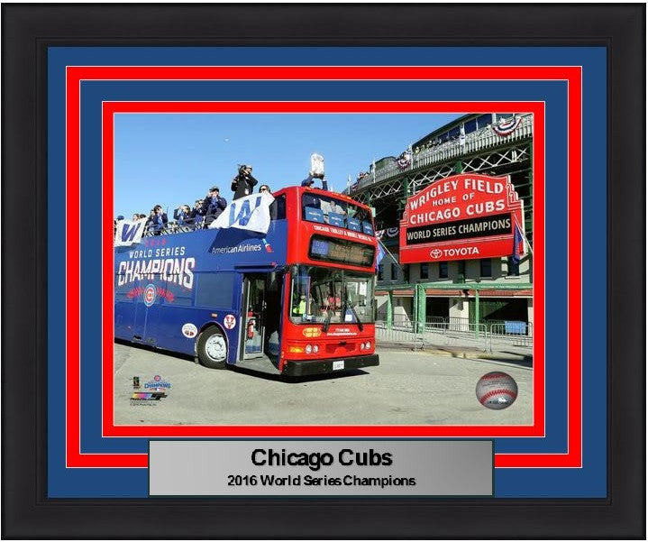 "Chicago Cubs 2016 World Series Champions Parade At Wrigley Field 8"" x 10"" Framed and Matted Photo - Dynasty Sports & Framing"