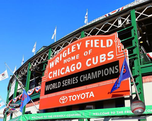 "Chicago Cubs 2016 World Series Champions Wrigley Field Sign MLB Baseball 8"" x 10"" Photo - Dynasty Sports & Framing"