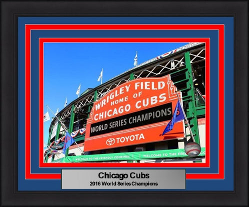 "Chicago Cubs 2016 World Series Champions Wrigley Field 8"" x 10"" Framed and Matted Photo - Dynasty Sports & Framing"