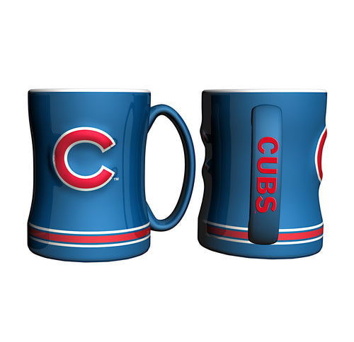 Chicago Cubs MLB Baseball Logo Relief 14 oz. Mug - Dynasty Sports & Framing