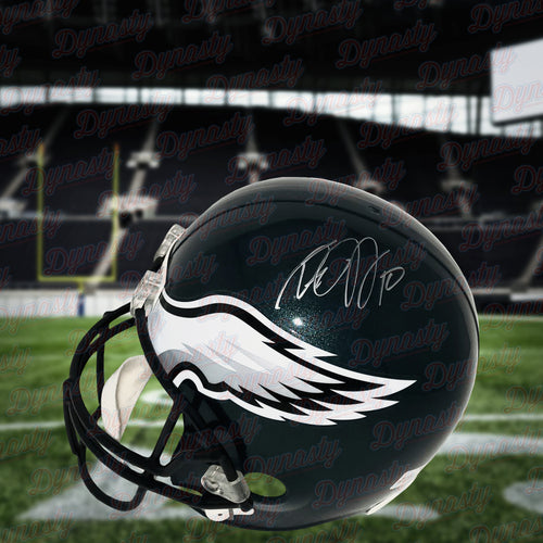 DeSean Jackson Philadelphia Eagles Autographed NFL Football Full-Size Helmet - Dynasty Sports & Framing