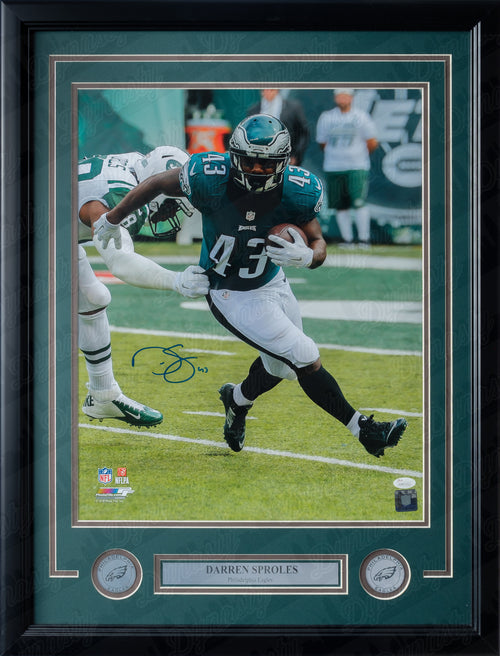"Darren Sproles Philadelphia Eagles Autographed 16"" x 20"" Framed and Matted Photo - Dynasty Sports & Framing"