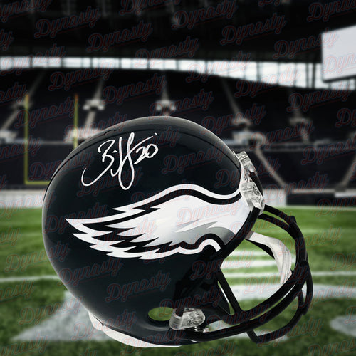 (Pre-Order) Brian Dawkins Autographed Full Size Eagles Speed Helmet - Dynasty Sports & Framing
