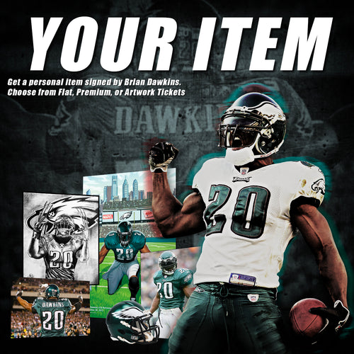 (Pre-Order) Brian Dawkins Autographed Signature: YOUR ITEM - Dynasty Sports & Framing