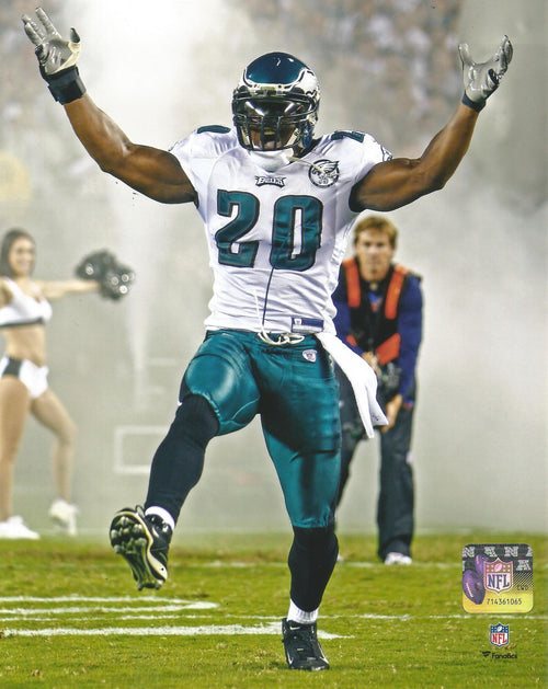 (Pre-Order) Brian Dawkins Autographed Smoke Entrance Photo - Dynasty Sports & Framing