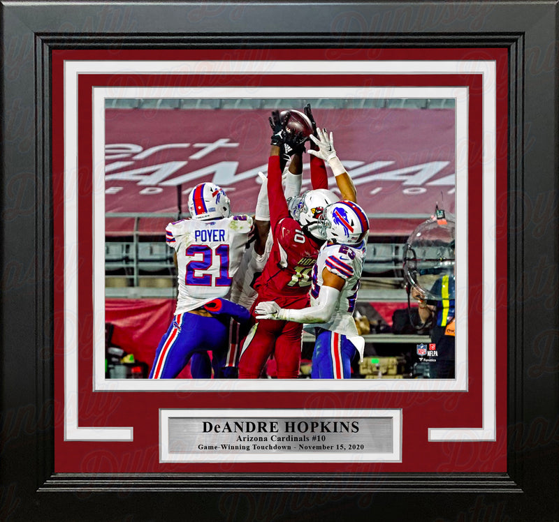 "DeAndre Hopkins Game-Winning Touchdown Arizona Cardinals 8"" x 10"" Framed Football Photo - Dynasty Sports & Framing"