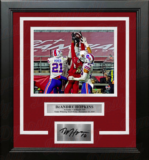 DeAndre Hopkins Game-Winning Touchdown Arizona Cardinals 8x10 Framed Photo with Engraved Autograph - Dynasty Sports & Framing