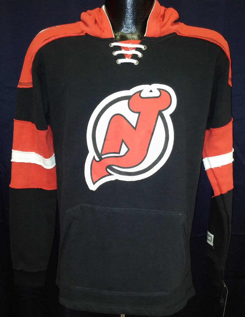 New Jersey Devils NHL Hockey Vintage Pullover Youth Hooded Sweatshirt - Dynasty Sports & Framing