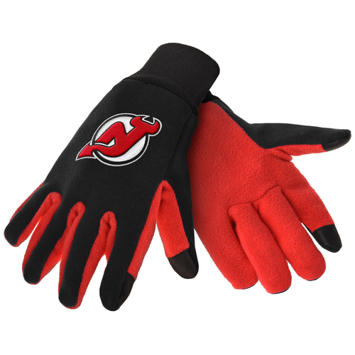 New Jersey Devils NHL Hockey Texting Gloves - Dynasty Sports & Framing