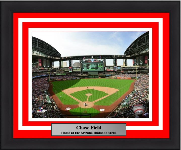 "Arizona Diamondbacks Chase Field Stadium MLB Baseball 8"" x 10"" Framed and Matted Photo"