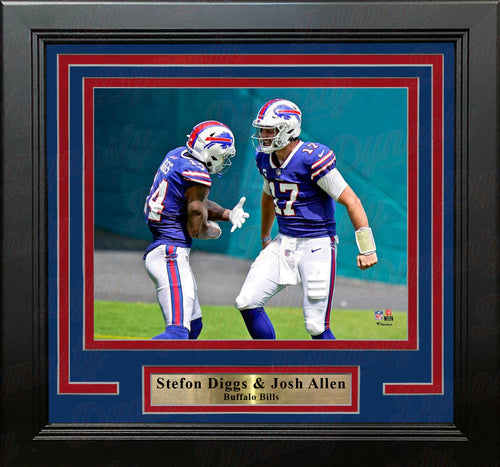 "Stefon Diggs & Josh Allen Buffalo Bills 8"" x 10"" Framed Football Photo - Dynasty Sports & Framing"