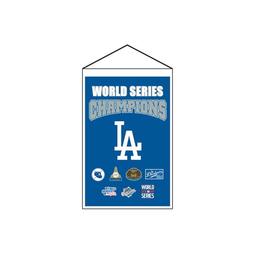 "Los Angeles Dodgers 2020 World Series Champions 14"" x 22"" Banner - Dynasty Sports & Framing"