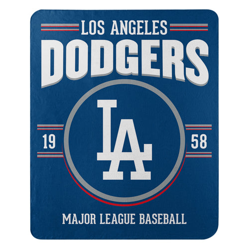 Los Angeles Dodgers Southpaw Fleece Throw Blanket - Dynasty Sports & Framing