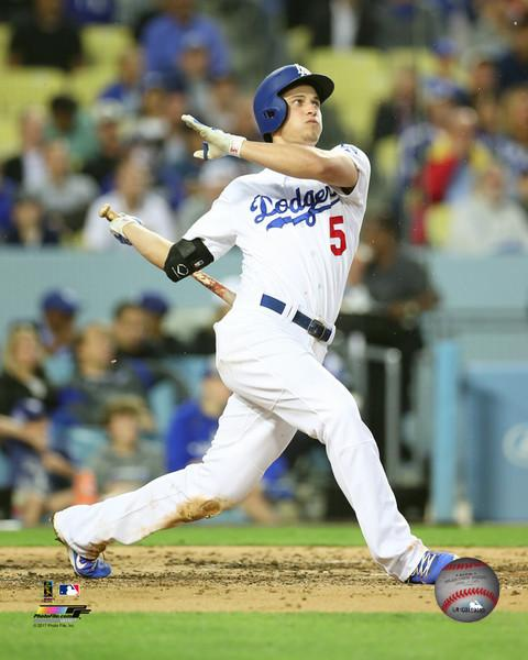 "Corey Seager in Action Los Angeles Dodgers 8"" x 10"" Baseball Photo - Dynasty Sports & Framing"