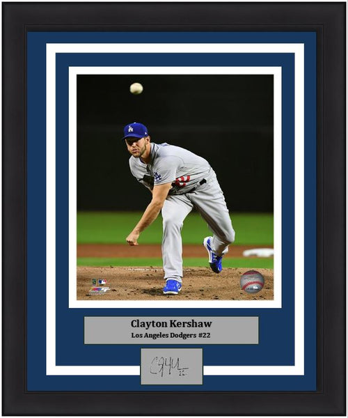 "Los Angeles Dodgers Clayton Kershaw MLB Baseball 8"" x 10"" Framed & Matted Photo (Dynasty Signature Collection)"