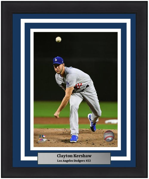 "Los Angeles Dodgers Clayton Kershaw MLB Baseball 8"" x 10"" Framed and Matted Photo"