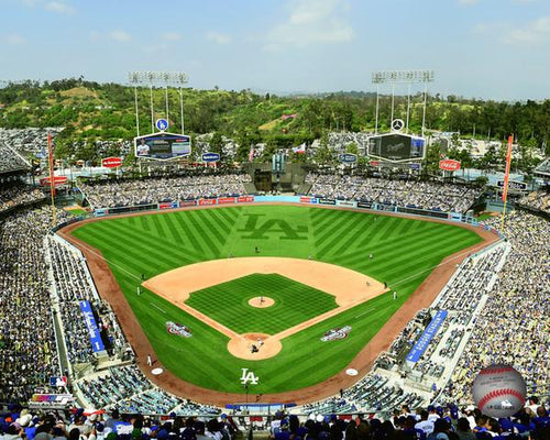 "Los Angeles Dodgers Stadium MLB Baseball 8"" x 10"" Photo"