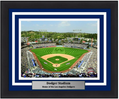 "Los Angeles Dodgers Stadium MLB Baseball 8"" x 10"" Framed and Matted Photo"