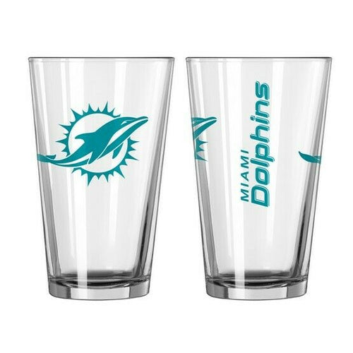 Miami Dolphins NFL 2-Piece Pint Glass Gift Set - Dynasty Sports & Framing