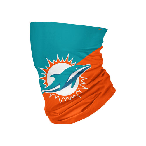 Miami Dolphins Colorblock Big Logo Gaiter Scarf - Dynasty Sports & Framing