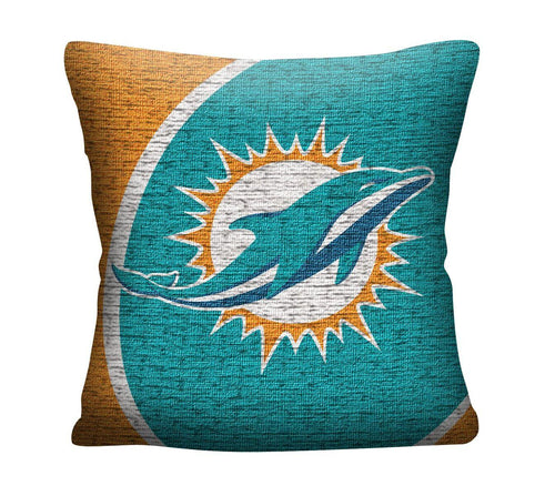"Miami Dolphins 20"" Jacquard Football Pillow"