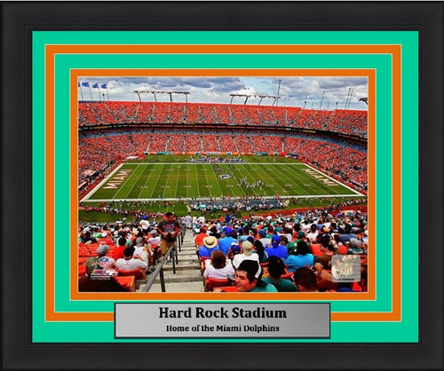 "Miami Dolphins Hard Rock Stadium NFL Football 8"" x 10"" Framed Photo"