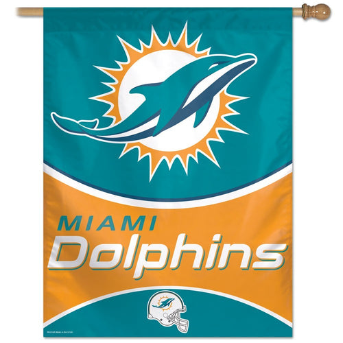 Miami Dolphins NFL Football Vertical Flag - Dynasty Sports & Framing