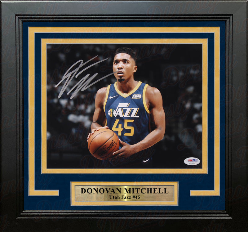 "Donovan Mitchell Close Up Utah Jazz Autographed 8"" x 10"" Framed Basketball Photo - Dynasty Sports & Framing"