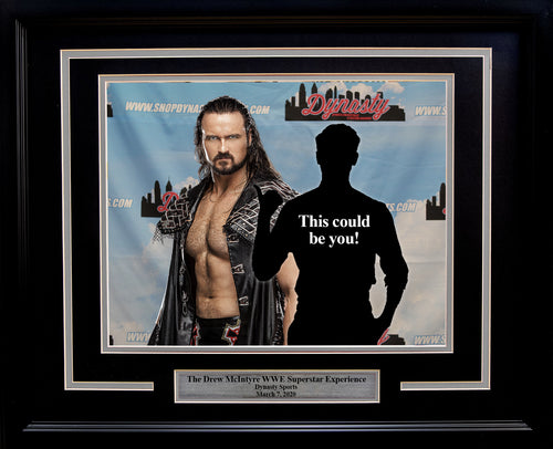 WWE® Superstar Drew McIntyre™ Photo-Op Frame Kit with Commemorative Nameplate - Dynasty Sports & Framing