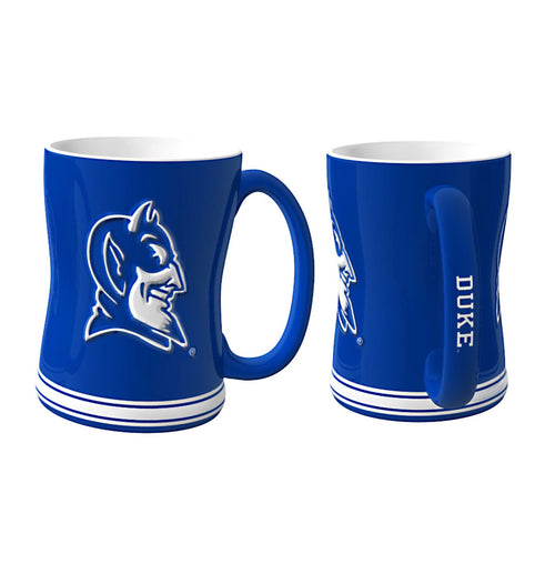 Duke Blue Devils NCAA College Logo Relief 14 oz. Mug - Dynasty Sports & Framing