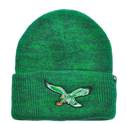 Philadelphia Eagles Throwback Kelly Green Winter Knit Hat - Dynasty Sports & Framing