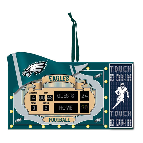 Philadelphia Eagles Scoreboard Christmas Ornament